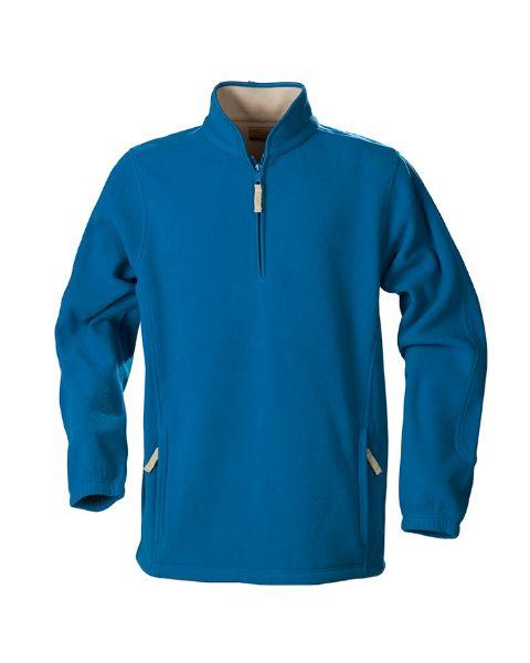 Синяя флисовая кофта с карманами