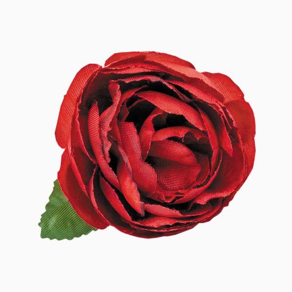 Шелковый цветок для оформления полотенца