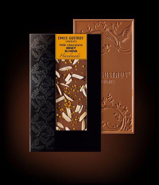 Шоколад с медом и миндалем