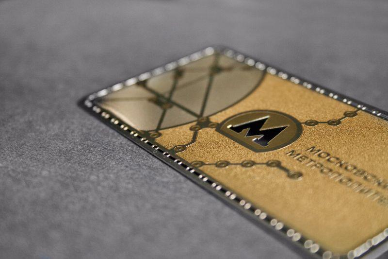 Дизайнерская визитка на металле