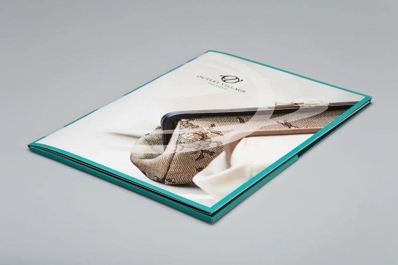 Стильная папка-буклет для презентаций
