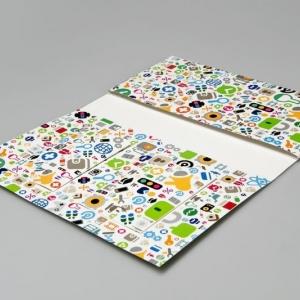 Стильная фирменная папка для банковских карт