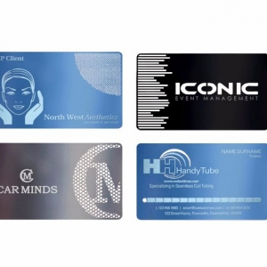 Фирменные визитки из металла