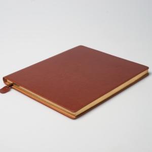 Кожаный ежедневник с золотым срезом