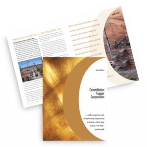 Годовой отчет с дизайнерским оформлением