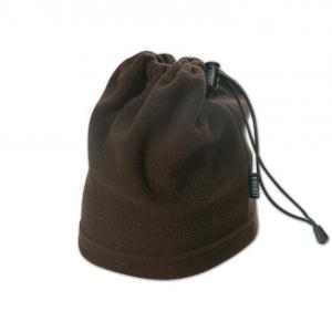 Коричневая шапка из флиса