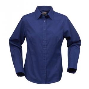 Женская рубашка синего цвета