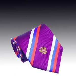 Шелковый галстук с рисунком