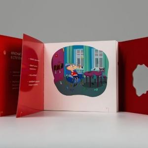Рекламный каталог с офсетно-глянцевым лакированием