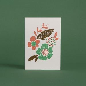 Печать памятной открытки для партнеров