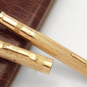 Позолоченная перьевая ручка
