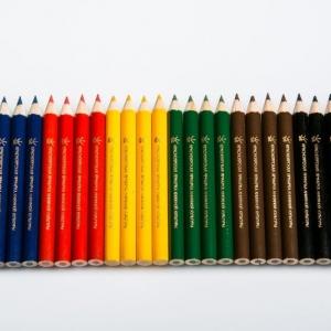 Заточеные карандаши с тиснением фольгой