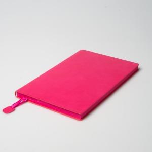 Розовый ежедневник из экокожи