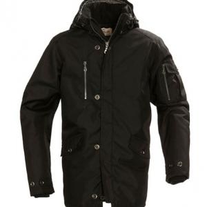 Удлинённая куртка с карманом на рукаве