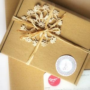 Подарочная коробочка из микрогофры