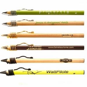 Фирменные карандаши с металлическим колпачком