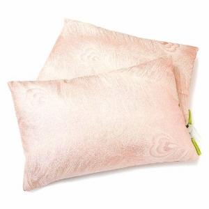 Шелковая подушка с нежным принтом