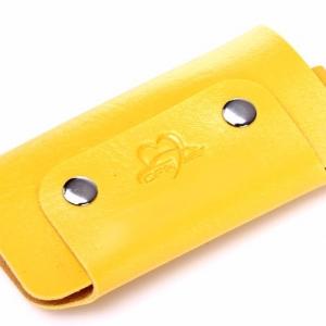 Желтая кожаная ключница