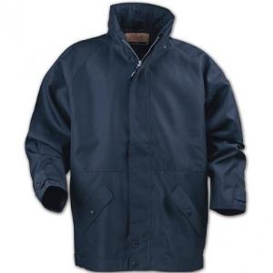 Синяя куртка с косыми карманами
