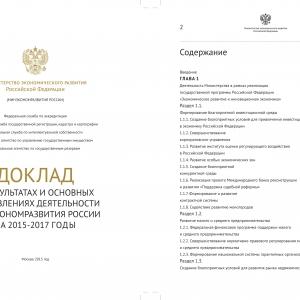 Разработка официальных докладов и отчётов
