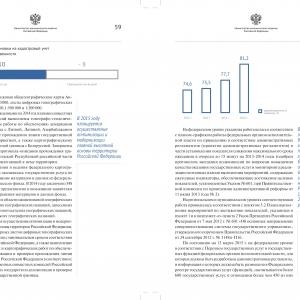Разворот официального доклада, аналитическая инфографика