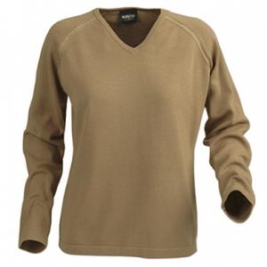 Трикотажный свитер с v-образной горловиной