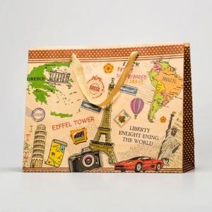 Фирменный пакет из крафт-бумаги