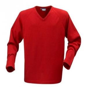 Трикотажный свитер красного цвета