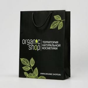Фирменный вертикальный пакет с лого