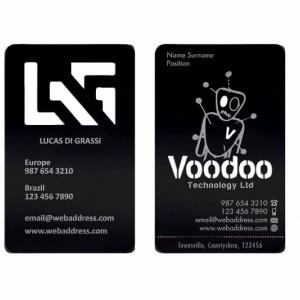 Фирменные металлические визитные карточки