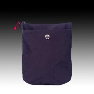 Синее портмоне из натурального шелка