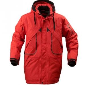 Удлинённая красная куртка