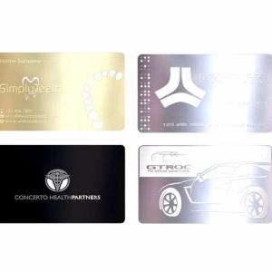 Корпоративные металлические визитки