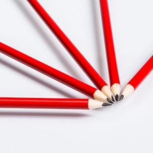 Красные простые карандаши на заказ