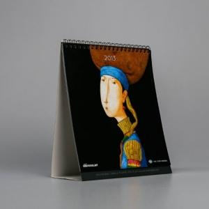 Настольный перекидной календарь из мелованной матовой бумаги