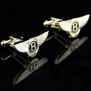 Фирменные серебряные запонки с гравировкой
