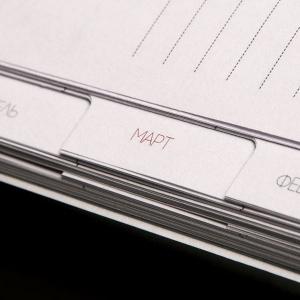 Деловой ежедневник с бумажной вырубкой