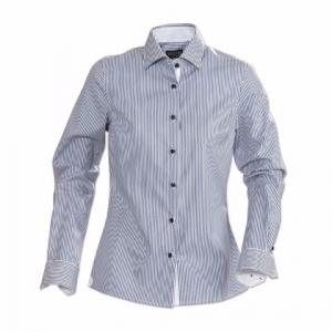 Приталенная рубашка с длинным рукавом, женская