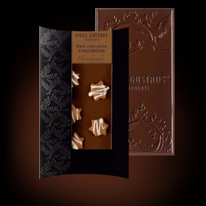 Темный шоколад с имбирным печеньем
