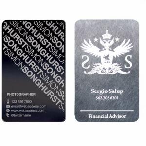 Металлические визитные карточки с фотогравировкой