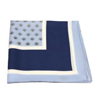 Шелковый платок с фирменным лого