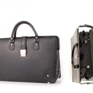 Кожаный портфель с логотипом