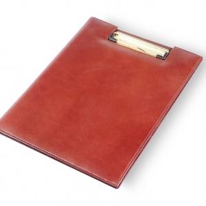 Кожаная папка-планшет с логотипом