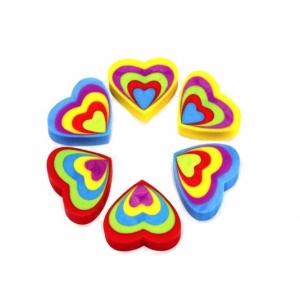 Разноцветные фигурные ластики