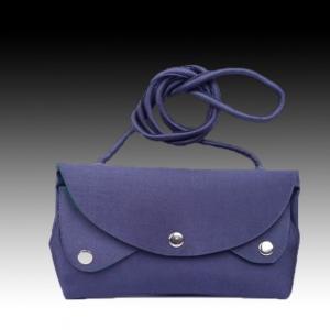 Синяя шелковая сумочка