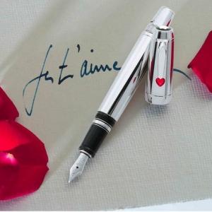 Перьевая ручка с лазерной гравировкой, металл