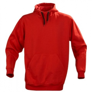 Толстовка  красного цвета с прямым силуэтом