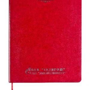 Красный ежедневник из эко-кожи