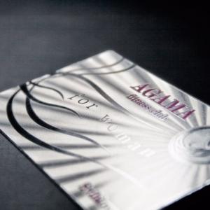 Серебристая клубная карта из металла