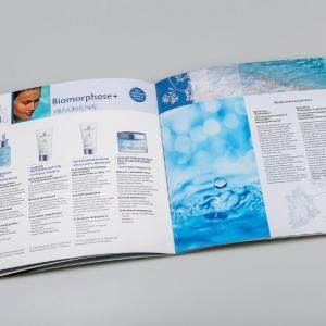 Рекламный каталог косметической компании, разворот страниц